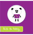 Baby shower card with panda Its a boy vector image