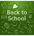 back to school text end doodle vector image vector image