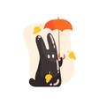 Black Tar Jelly Rabbit Shape Monster Holding vector image vector image