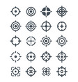 black target icons on the white background vector image