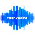 Blurred waveform made of lines vector image vector image