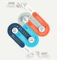 business infographics timeline template background vector image vector image
