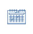 calendar planning line icon concept calendar vector image vector image