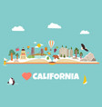 california concept for banners tour guides vector image