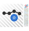 cardano chart flat icon with bonus vector image vector image