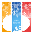christmas banners Ready for a text vector image