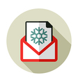 Christmas letter flat icon vector image