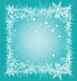 christmas snowflakes frame vector image vector image