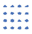 cloud flat glyph icons cloudssilhouette symbols vector image vector image