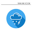 cloud sky rain storm line simple icon weather vector image vector image