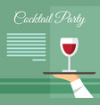 cocktail party drinks flat menu layout vector image vector image