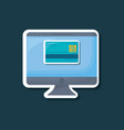 computer and credit card icon vector image vector image