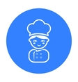 Cook black icon for web and mobile vector image