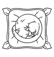 cute cat slepping on pillow vector image vector image