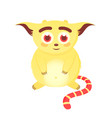 cute smiling monster a funny happy creature vector image