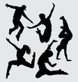 dance and sport silhouette vector image