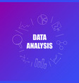 data analysis background from line icon vector image