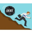 debt and failure in business vector image vector image