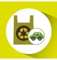 eco car icon environment plastic bag vector image vector image