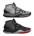 fashion basketball shoes vector image vector image