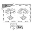 find 9 differences game family tree vector image vector image