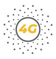 flat 4g with dots pattern vector image vector image