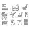 furniture and equipment for kids vector image vector image