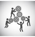 Gear teamwork concept vector image vector image