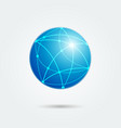 global network emblem vector image