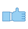 hand like isolated icon vector image vector image