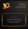 happy 10th anniversary background design luxury
