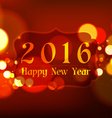 Happy New Year 2016 on Bokeh Light Red Background vector image vector image
