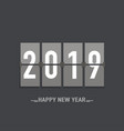 happy new year 2019 greeting card design template vector image vector image