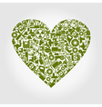 Heart the industry vector image vector image