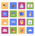 Hotel flat icons set vector image vector image