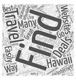 How to Find the Best Deals on Hawaii Vacations vector image vector image