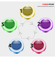 Infographics of five elements buttons vector image
