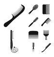 isolated object of brush and hair sign set of vector image