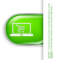 laptop with symbol shopping cart vector image vector image