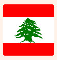 lebanon square flag button social media vector image vector image