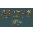 Lettering with hand drawn christmas objects for vector image vector image