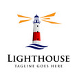 lighthouse logo design vector image