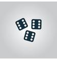 Lucky dices casino gambling game jackpot vector image vector image