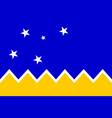 magallanes regionalism flag in proportions vector image vector image