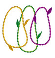 mardi gras white background with colorful vector image
