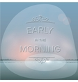 Misty morning background vector image vector image