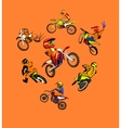 Motorcycle motocross set vector image vector image