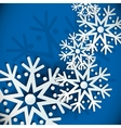 New Year snowflakes background vector image vector image