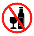 no alcohol sing vector image vector image
