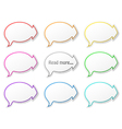 paper speech bubbles with arrows vector image vector image